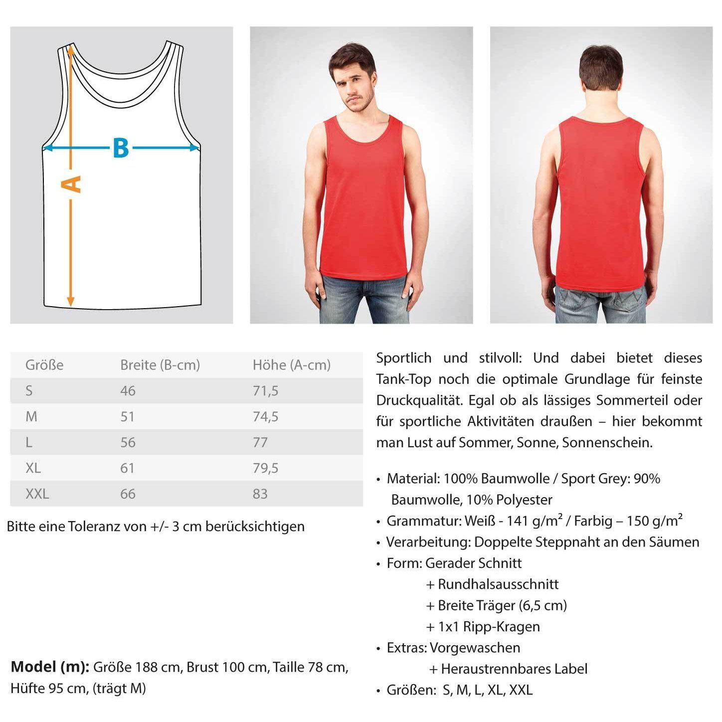 KING OF LINES - Rave On!® - Herren Tanktop Herren Tank-Top - Rave On!® der Club & Techno Szene Shop für Coole Junge Mode Streetwear Style & Fashion Outfits + Sexy Festival 420 Stuff