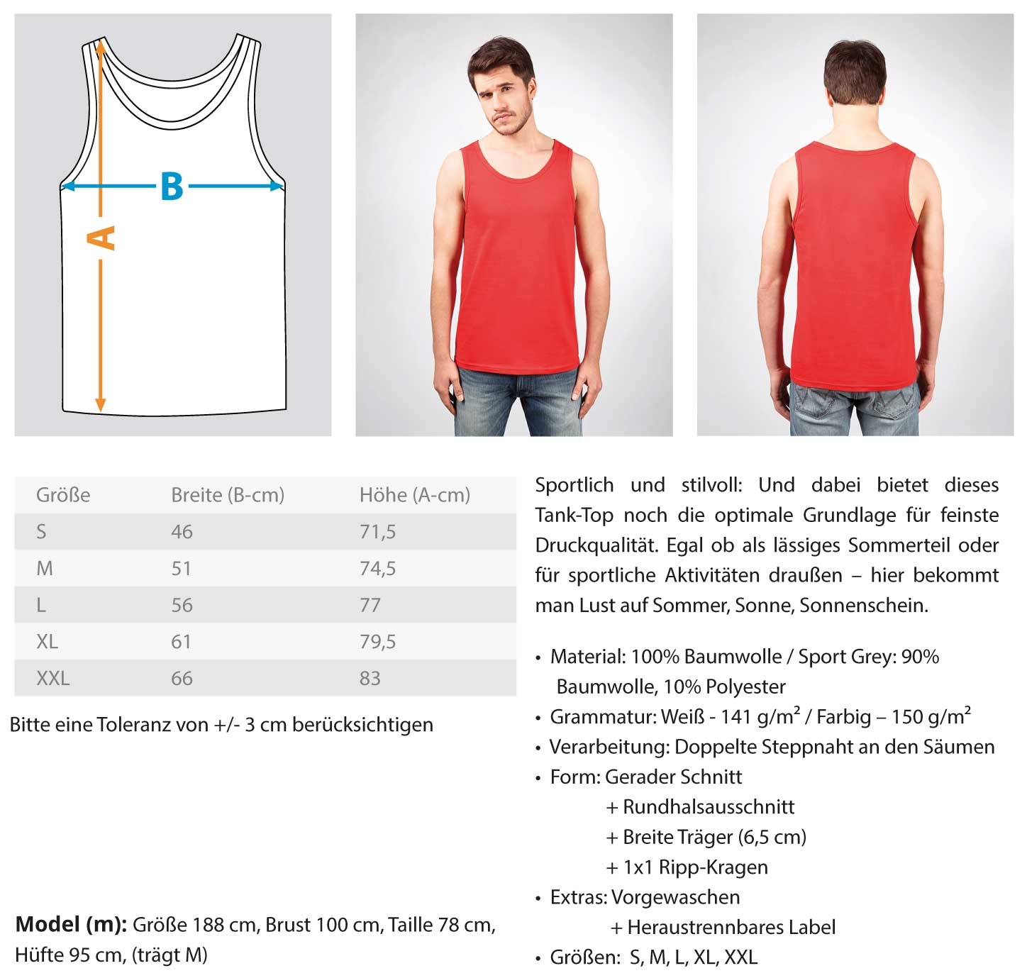 White Cross - Herren Tanktop Herren Tank-Top - Rave On!® der Club & Techno Szene Shop für Coole Junge Mode Streetwear Style & Fashion Outfits + Sexy Festival 420 Stuff