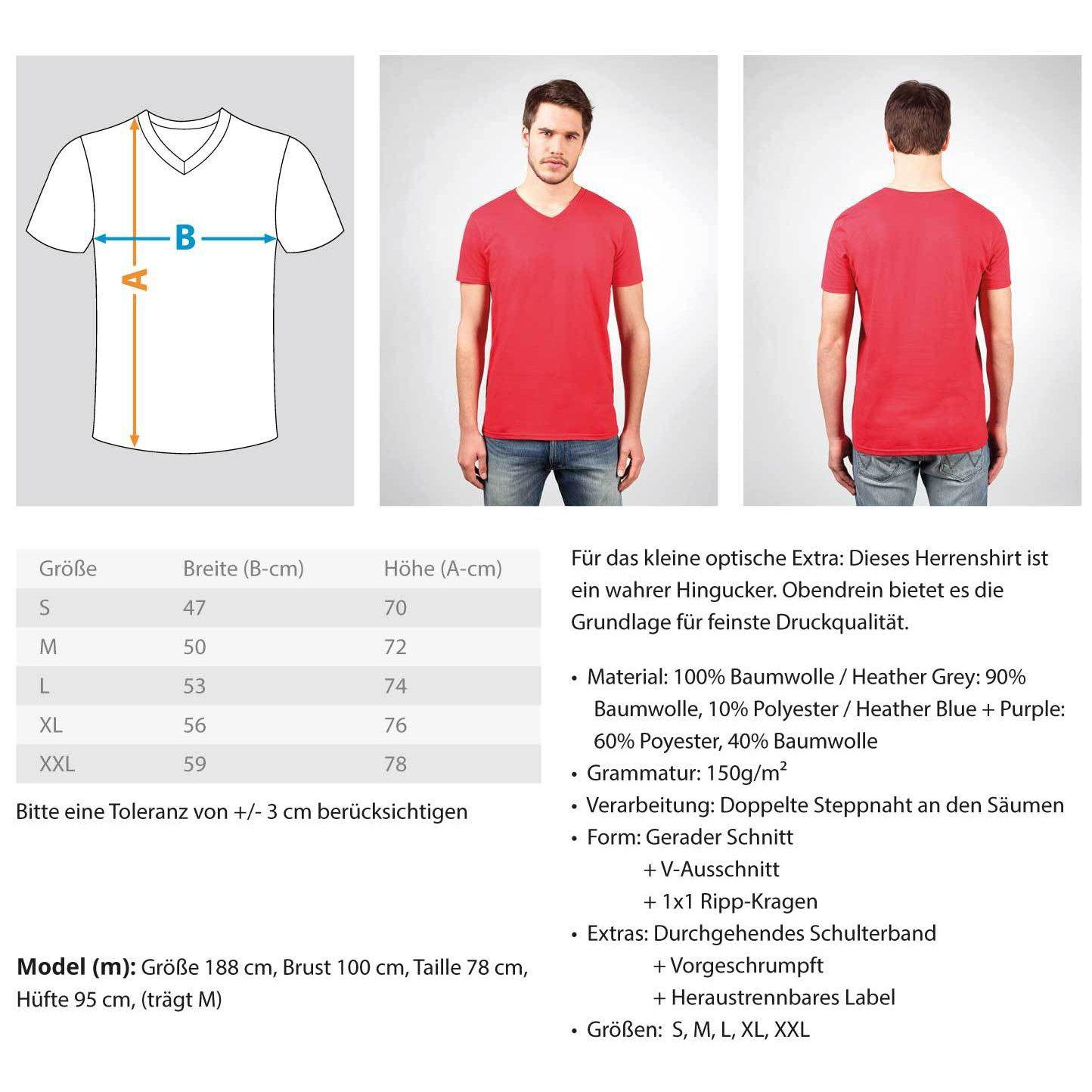 Darian Jaburg - BS Rec.White - Rave On!® - Herren V-Neck Shirt V-Neck Herrenshirt - Rave On!® der Club & Techno Szene Shop für Coole Junge Mode Streetwear Style & Fashion Outfits + Sexy Festival 420 Stuff