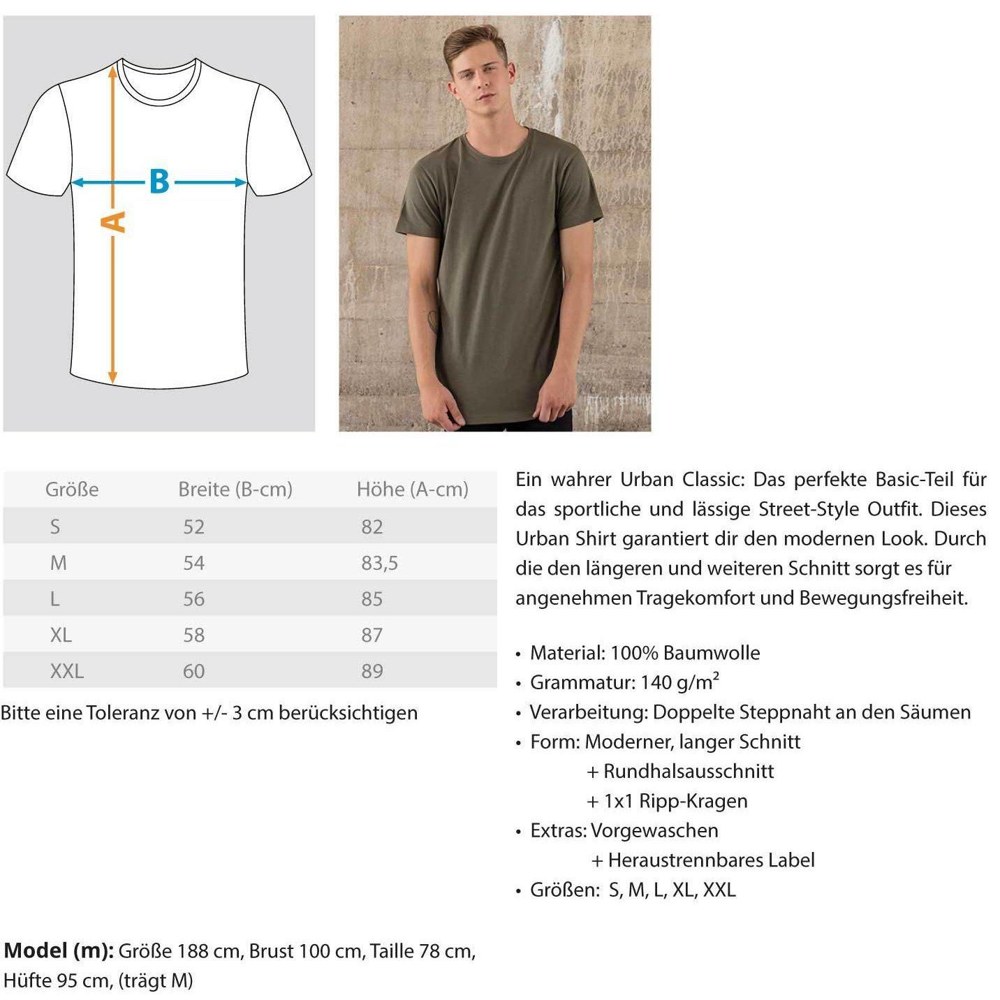 Rave On!® White Graffity - Herren Long Tee Men Long Tee - Rave On!® der Club & Techno Szene Shop für Coole Junge Mode Streetwear Style & Fashion Outfits + Sexy Festival 420 Stuff