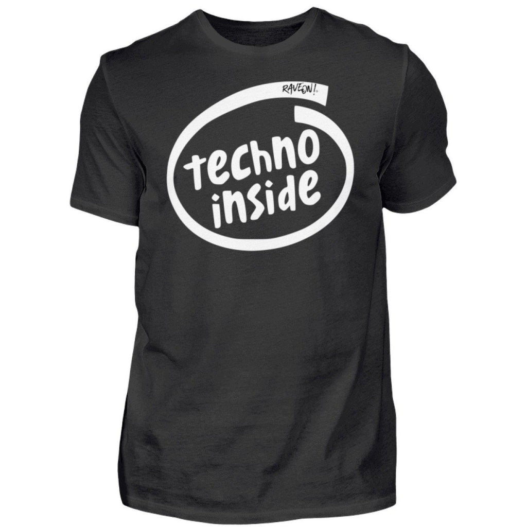 """TECHNO INSIDE"" T-Shirt - Rave On!®-Black-S-Rave-On! I www.rave-on.shop I Deine Rave & Techno Szene Shop I black, cheap rave clothes, inside, intel, rave, rave attire, rave clothes, Rave Clothing, rave fashion, rave gear, rave outfit, rave outfits, rave shop, rave wear, shirt, shirts, t-shirt, techno, techno apparel, techno meme, techno quote, techno shirt, techno wear, technogirl, technoguy, technoquote, technoshirt, technospruch, tshirt - Sexy Festival Streetwear , Clubwear & Raver Style"