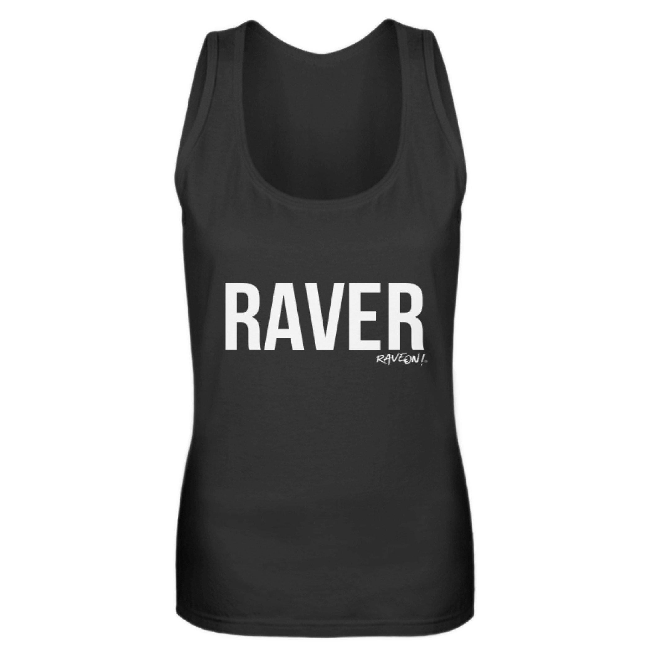 RAVER Girls Tanktop by Rave On!® Damen Tank-Top Black / S - Rave On!® der Club & Techno Szene Shop für Coole Junge Mode Streetwear Style & Fashion Outfits + Sexy Festival 420 Stuff