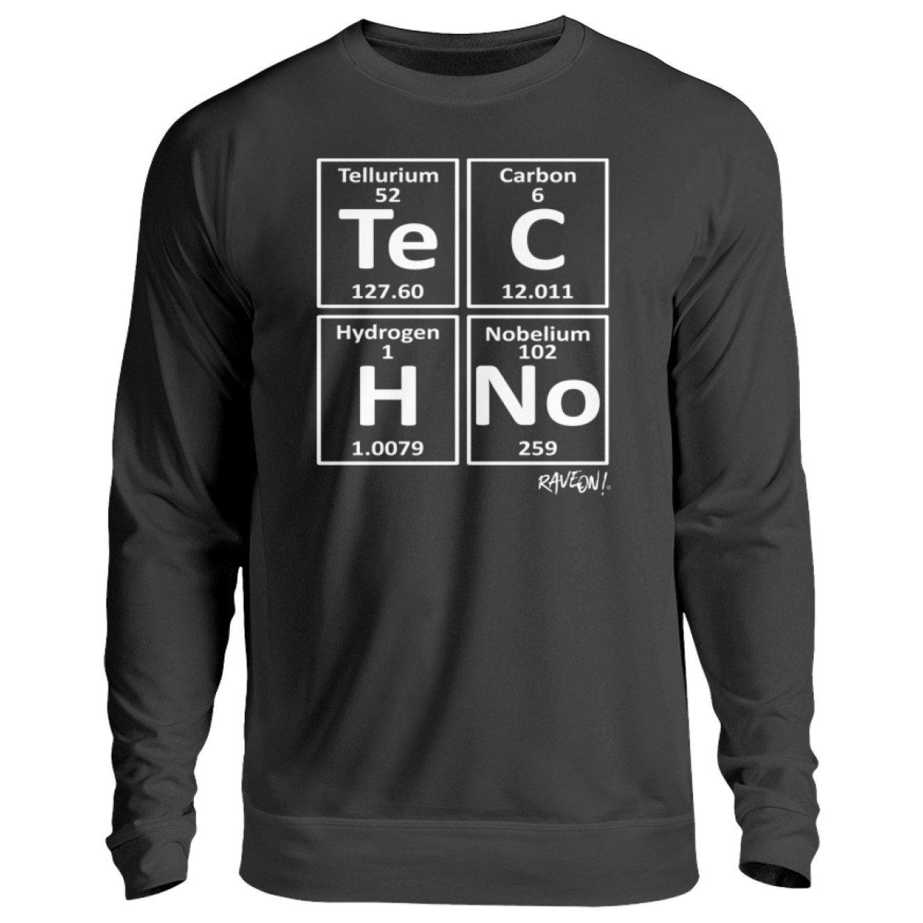 TeCHNo Elements - Rave On!® - Unisex Pullover Unisex Sweatshirt Jet Black / S - Rave On!® der Club & Techno Szene Shop für Coole Junge Mode Streetwear Style & Fashion Outfits + Sexy Festival 420 Stuff