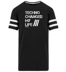 Techno Changed  my Life - Rave On!®  - Striped Long Shirt