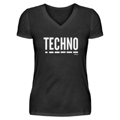 Techno Music - Rave On!®  - V-Neck Damenshirt