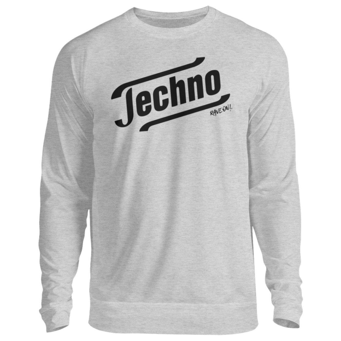 Techno Tempo White -Rave On!® - Unisex Pullover Unisex Sweatshirt Heather Gray / S - Rave On!® the club & techno scene shop for cool young fashion streetwear style & fashion outfits + sexy festival 420 stuff