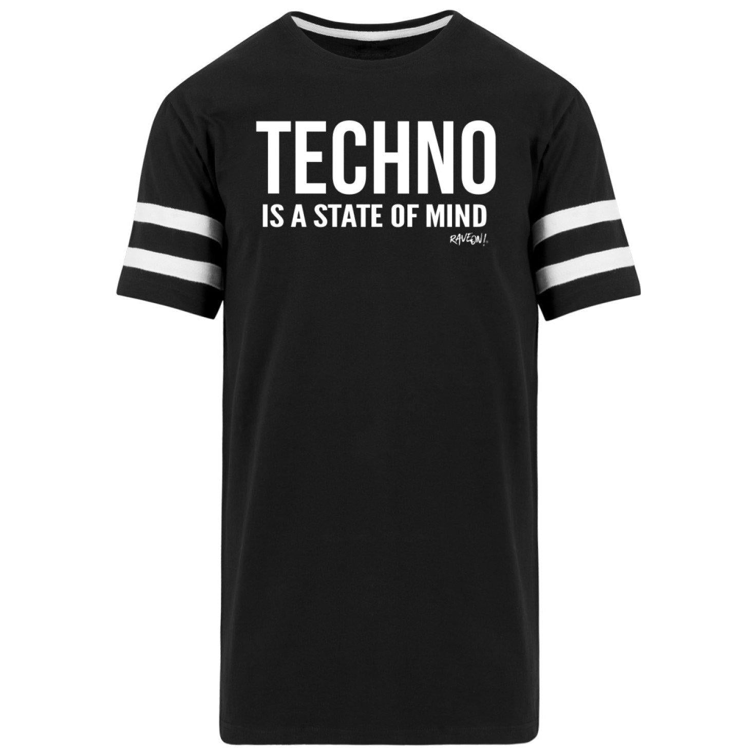 TECHNO IS A STATE OF MIND - Rave On!® - Herren Striped Long Shirt-Striped Long Shirt-Black-S-Rave-On! I www.rave-on.shop I Deine Rave & Techno Szene Shop I Design - TECHNO IS A STATE OF MIND - Rave On!®, mind, rave, raver, Shirt, state, t-shirt, techno, tshirt - Sexy Festival Streetwear , Clubwear & Raver Style