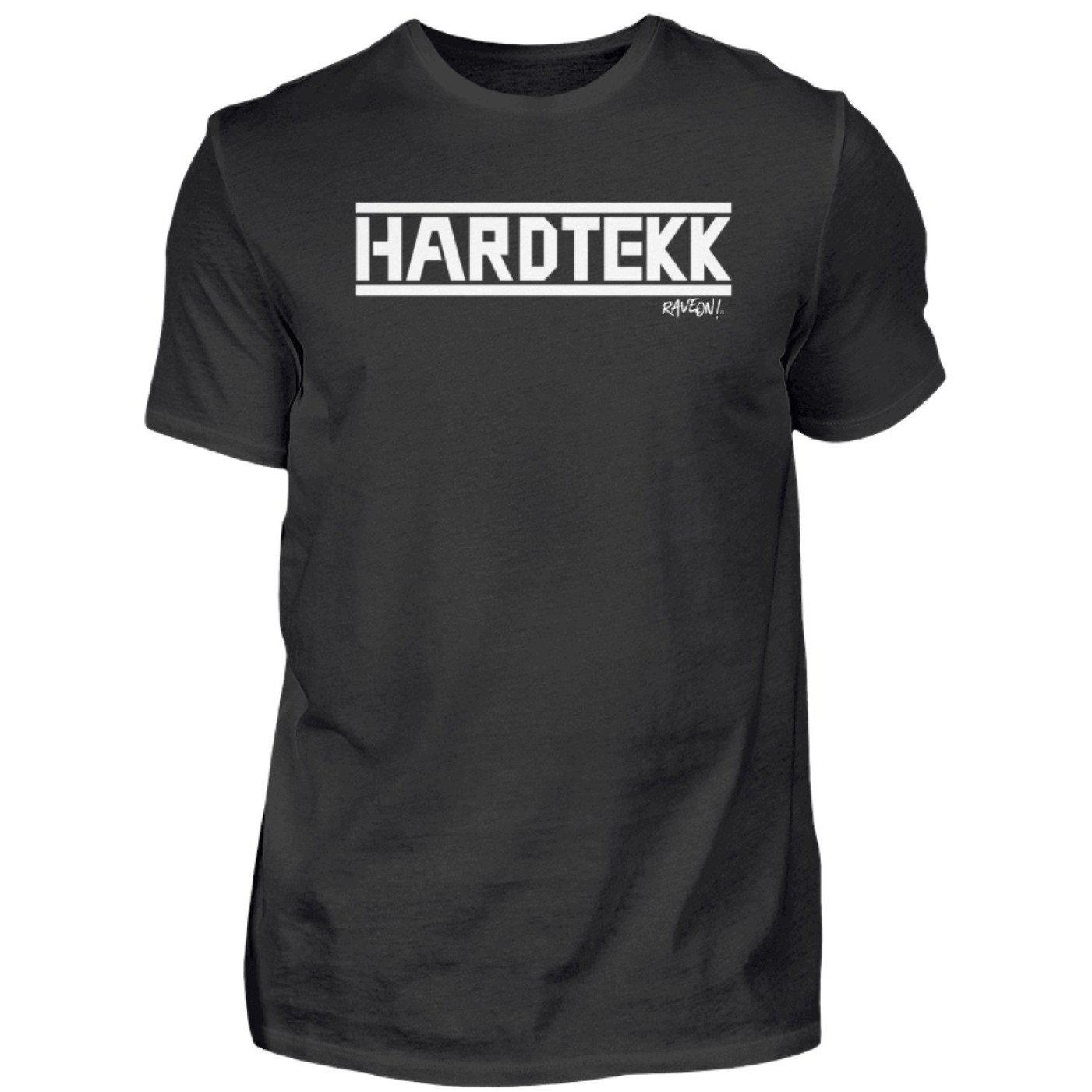 HARDTEKK - Rave On!® - Herren Shirt-Herren Basic T-Shirt-Black-S-Rave-On! I www.rave-on.shop I Deine Rave & Techno Szene Shop I Design - HARDTEKK - Rave On!®, Global recommendation, hardtekk, on, rave, techno, Tekk, tekkno - Sexy Festival Streetwear , Clubwear & Raver Style