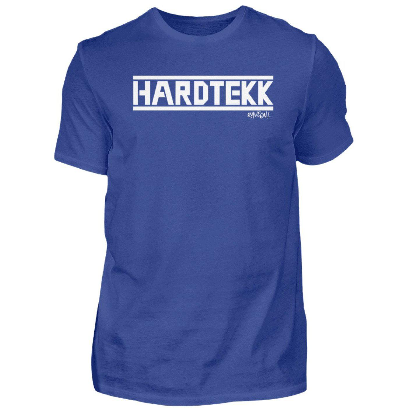 HARDTEKK - Rave On!® - Herren Shirt-Herren Basic T-Shirt-Royal Blue-S-Rave-On! I www.rave-on.shop I Deine Rave & Techno Szene Shop I Design - HARDTEKK - Rave On!®, Global recommendation, hardtekk, on, rave, techno, Tekk, tekkno - Sexy Festival Streetwear , Clubwear & Raver Style
