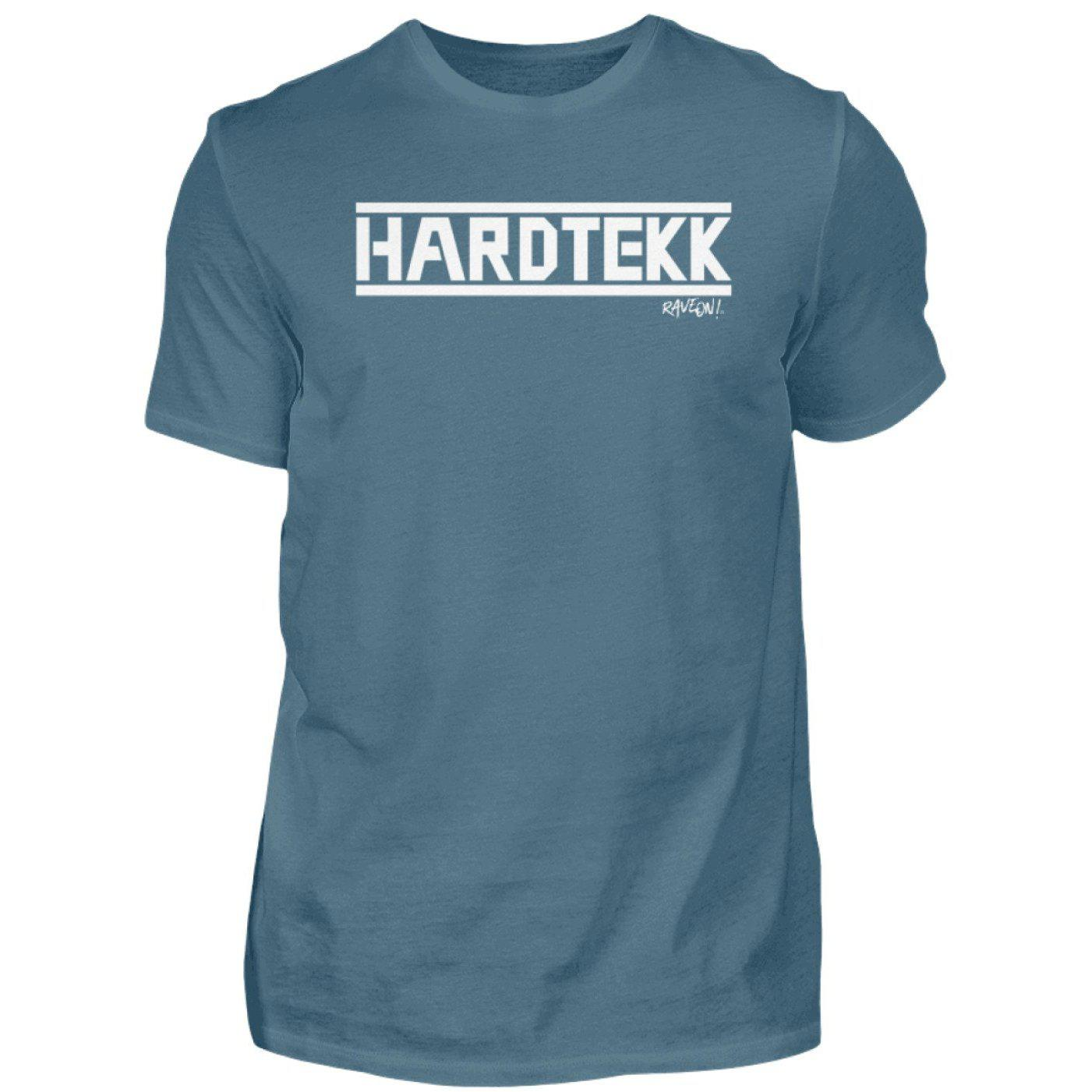 HARDTEKK - Rave On!® - Herren Shirt-Herren Basic T-Shirt-Stone Blue-S-Rave-On! I www.rave-on.shop I Deine Rave & Techno Szene Shop I Design - HARDTEKK - Rave On!®, Global recommendation, hardtekk, on, rave, techno, Tekk, tekkno - Sexy Festival Streetwear , Clubwear & Raver Style