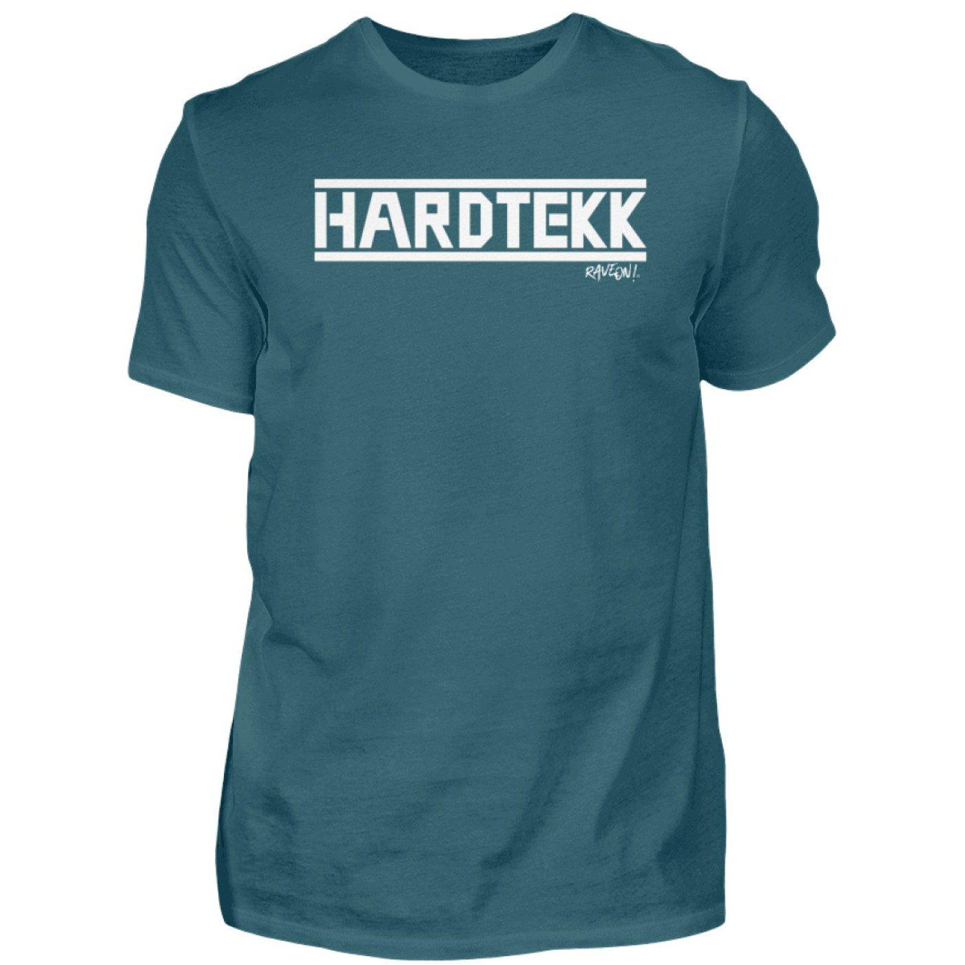 HARDTEKK - Rave On!® - Herren Shirt-Herren Basic T-Shirt-Diva Blue-S-Rave-On! I www.rave-on.shop I Deine Rave & Techno Szene Shop I Design - HARDTEKK - Rave On!®, Global recommendation, hardtekk, on, rave, techno, Tekk, tekkno - Sexy Festival Streetwear , Clubwear & Raver Style