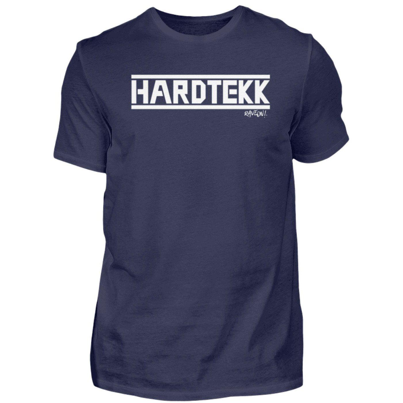 HARDTEKK - Rave On!® - Herren Shirt-Herren Basic T-Shirt-Navy-S-Rave-On! I www.rave-on.shop I Deine Rave & Techno Szene Shop I Design - HARDTEKK - Rave On!®, Global recommendation, hardtekk, on, rave, techno, Tekk, tekkno - Sexy Festival Streetwear , Clubwear & Raver Style