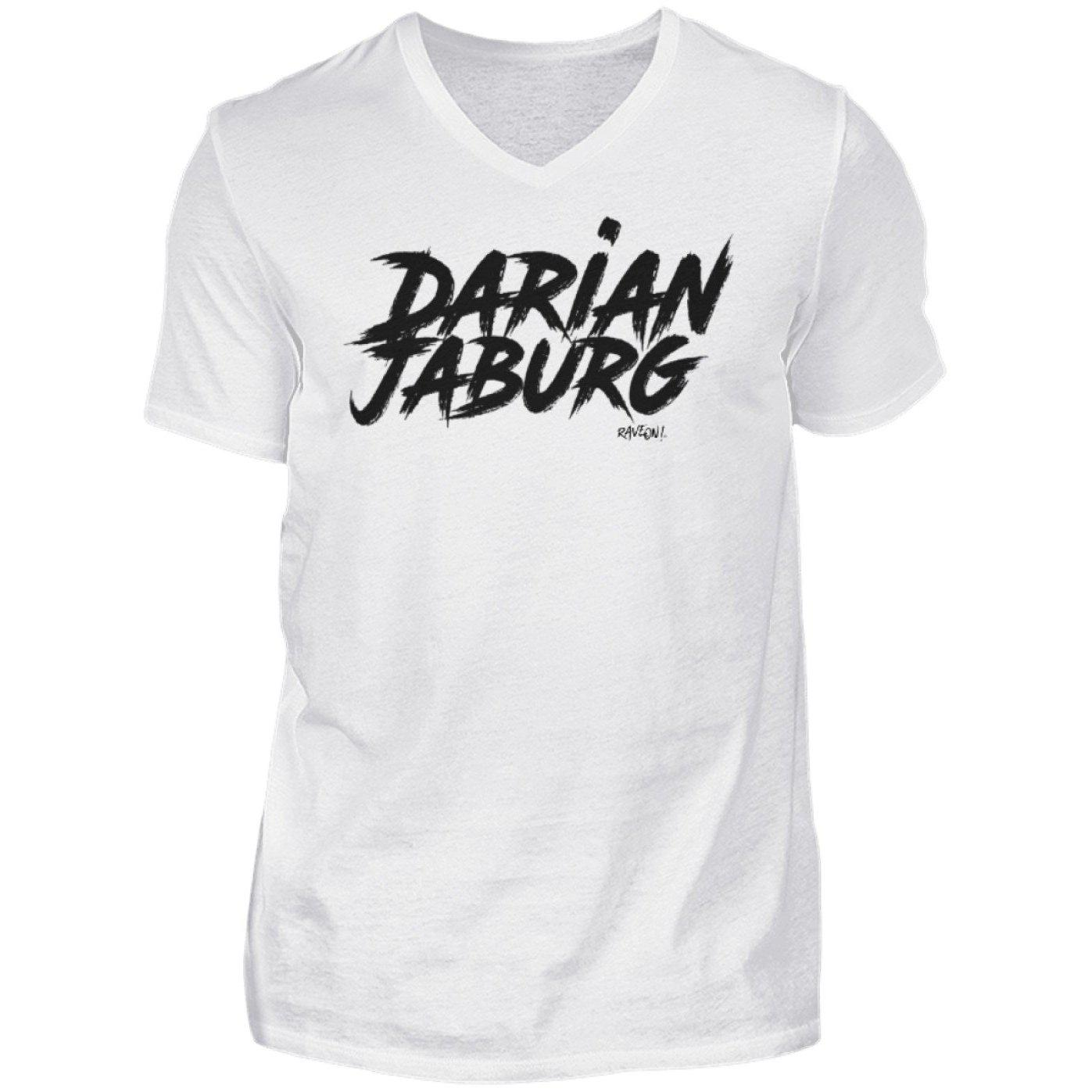 Darian Jaburg - BS Rec.White - Rave On!® - Herren V-Neck Shirt V-Neck Herrenshirt White / S - Rave On!® der Club & Techno Szene Shop für Coole Junge Mode Streetwear Style & Fashion Outfits + Sexy Festival 420 Stuff