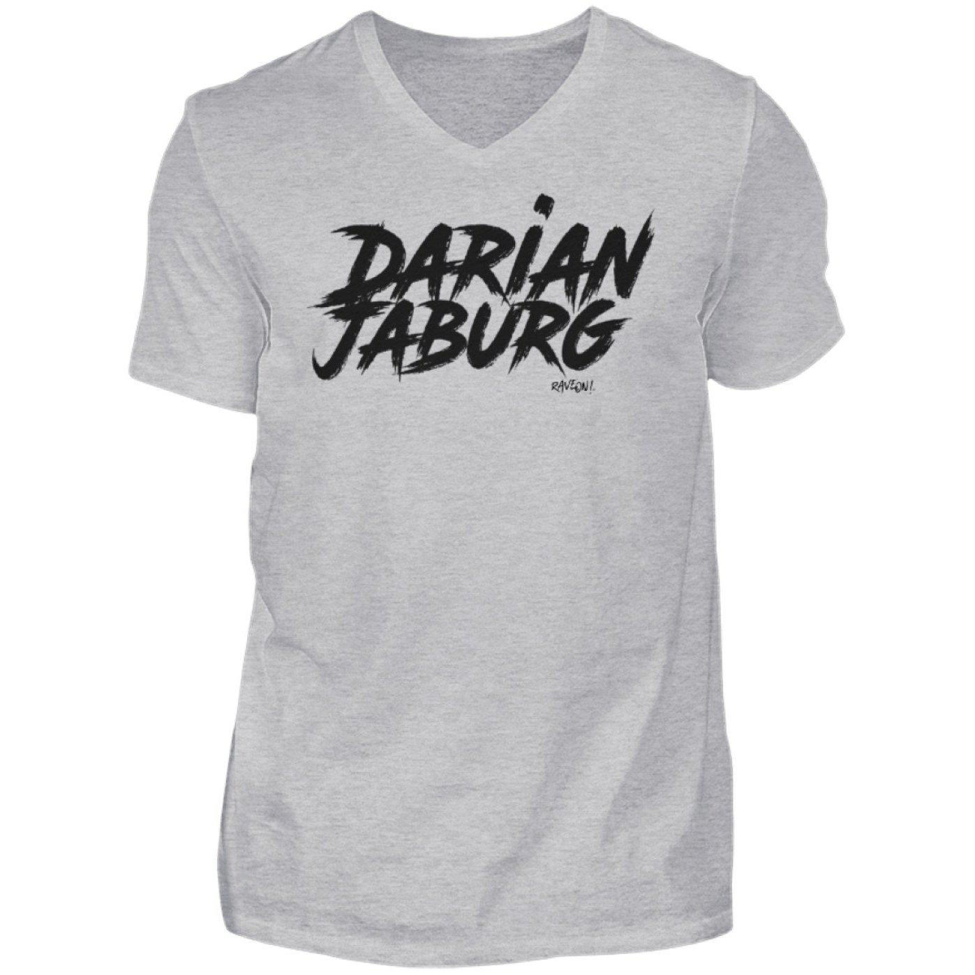 Darian Jaburg - BS Rec.White - Rave On!® - Herren V-Neck Shirt V-Neck Herrenshirt Heather Grey / S - Rave On!® der Club & Techno Szene Shop für Coole Junge Mode Streetwear Style & Fashion Outfits + Sexy Festival 420 Stuff