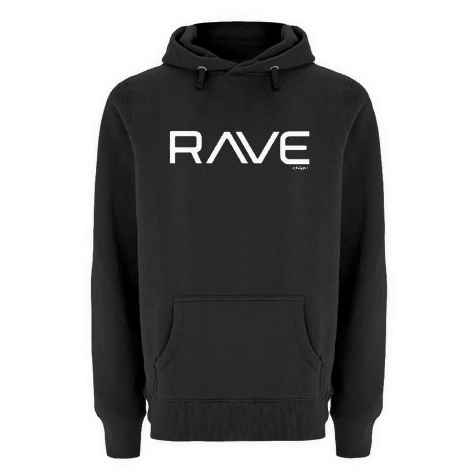 RAVE - Rave On!® Black T-Shirt - Unisex Premium Kapuzenpullover Unisex Premium Hoodie Black / S - Rave On!® der Club & Techno Szene Shop für Coole Junge Mode Streetwear Style & Fashion Outfits + Sexy Festival 420 Stuff