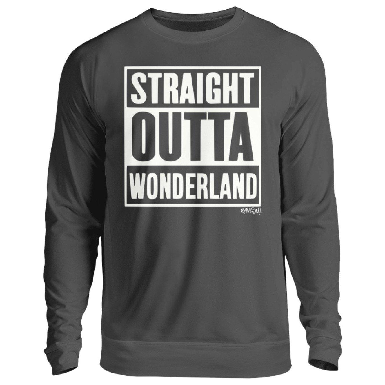 STRAIGHT OUTTA WONDERLAND black - Rave On!® - Unisex Pullover Unisex Sweatshirt Storm Grey (Solid) / S - Rave On!® der Club & Techno Szene Shop für Coole Junge Mode Streetwear Style & Fashion Outfits + Sexy Festival 420 Stuff
