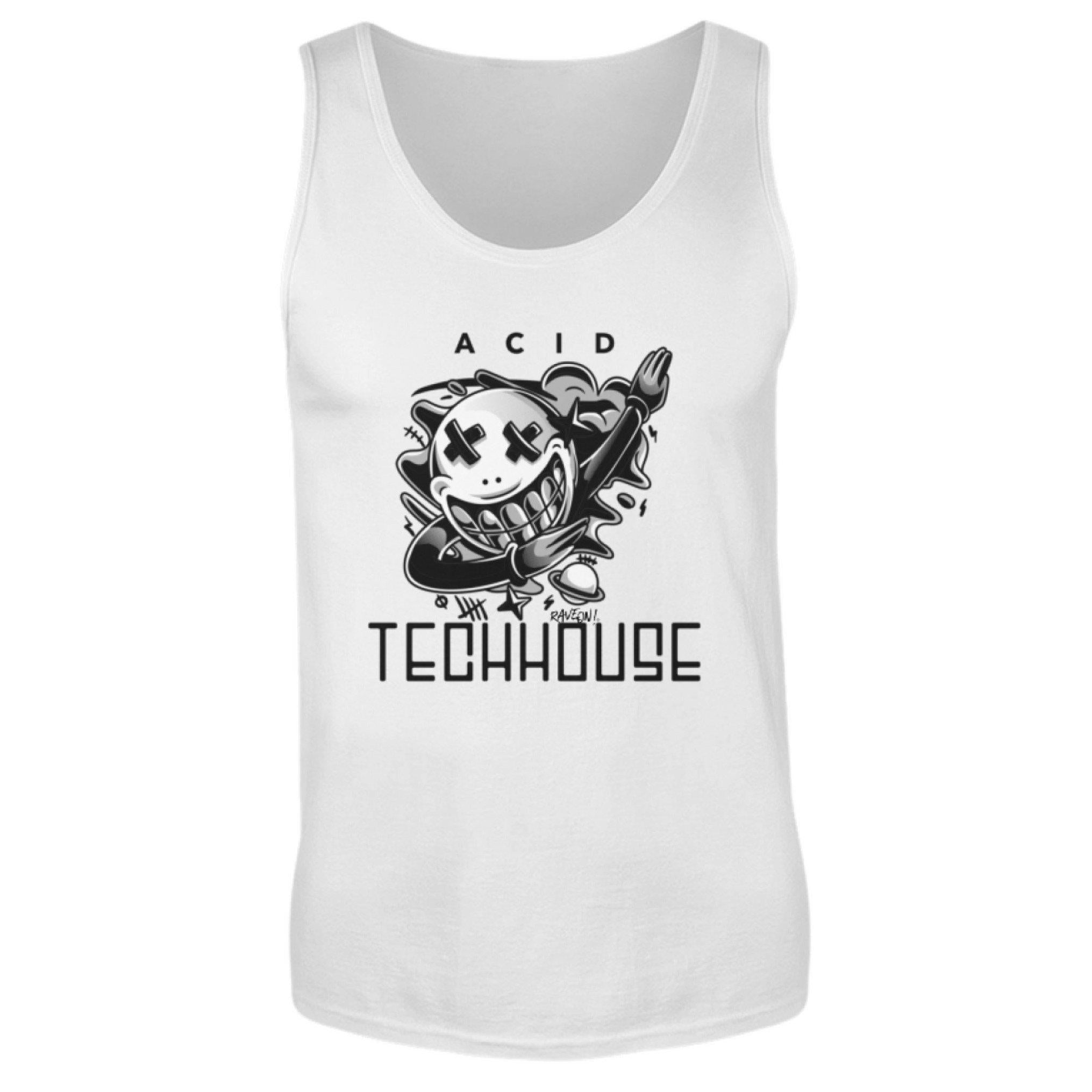 ACID TECHHOUSE - Rave On!® - Herren Tanktop Herren Tank-Top White / S - Rave On!® der Club & Techno Szene Shop für Coole Junge Mode Streetwear Style & Fashion Outfits + Sexy Festival 420 Stuff