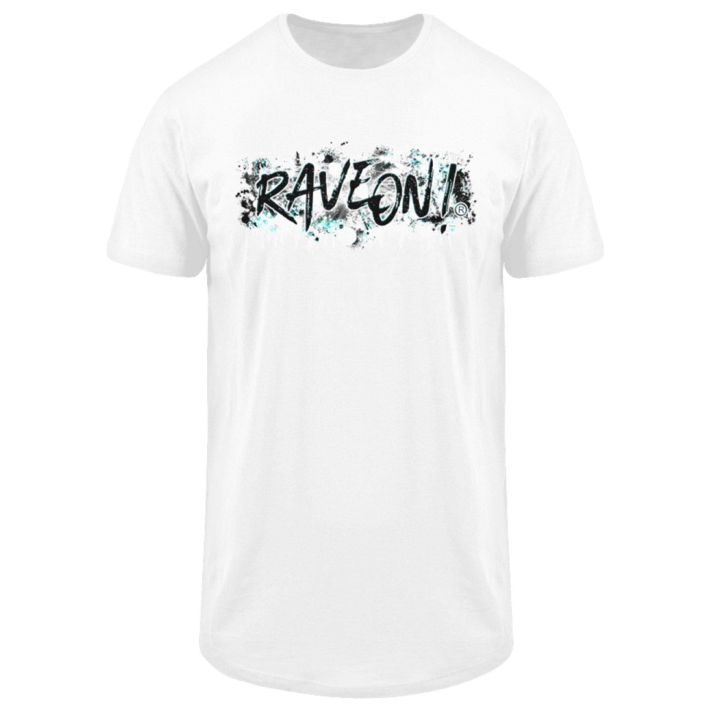 Rave On! Paint on white -Rave On!® - Herren Long Tee Men Long Tee White / S - Rave On!® der Club & Techno Szene Shop für Coole Junge Mode Streetwear Style & Fashion Outfits + Sexy Festival 420 Stuff