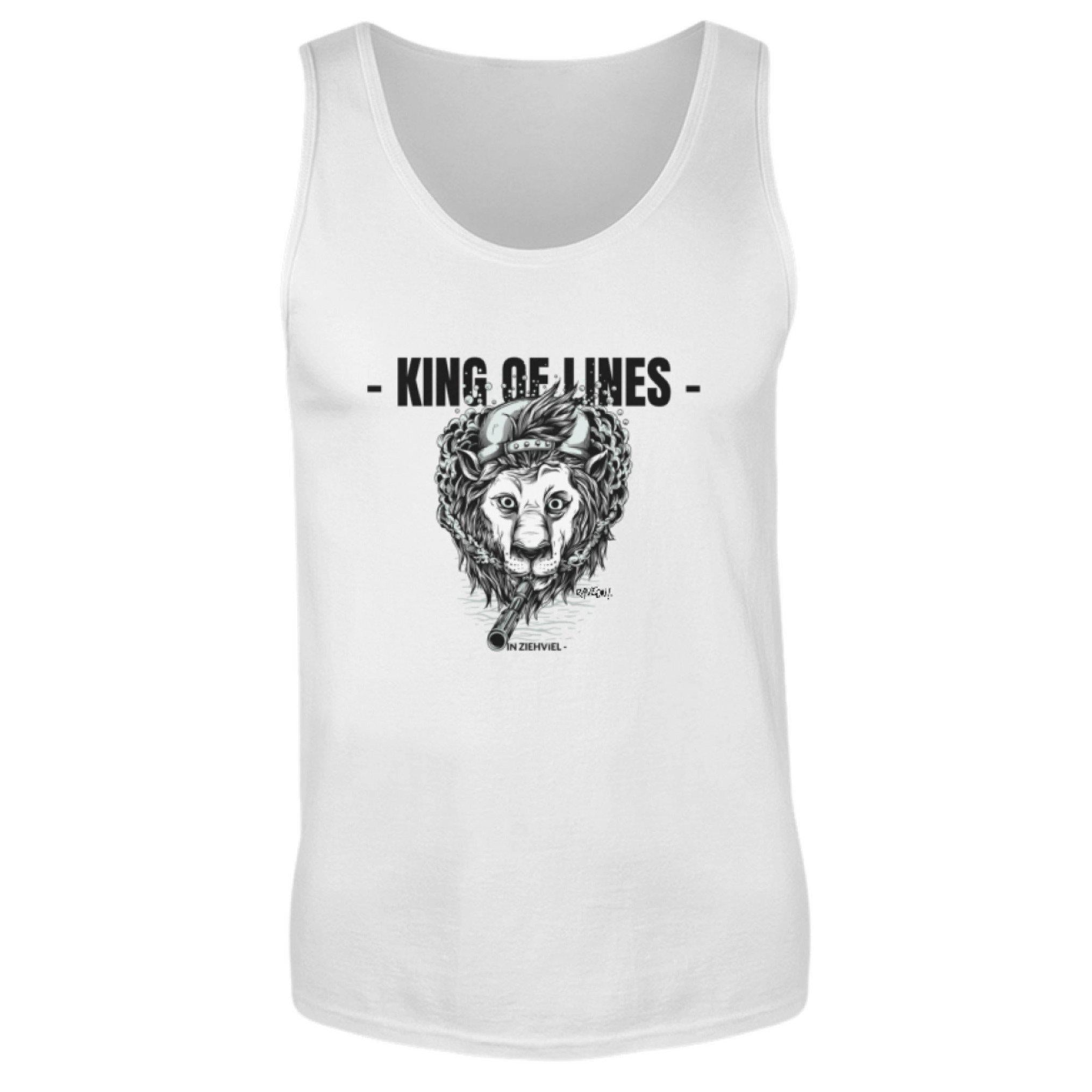 KING OF LINES - Rave On!® - Herren Tanktop Herren Tank-Top White / S - Rave On!® der Club & Techno Szene Shop für Coole Junge Mode Streetwear Style & Fashion Outfits + Sexy Festival 420 Stuff