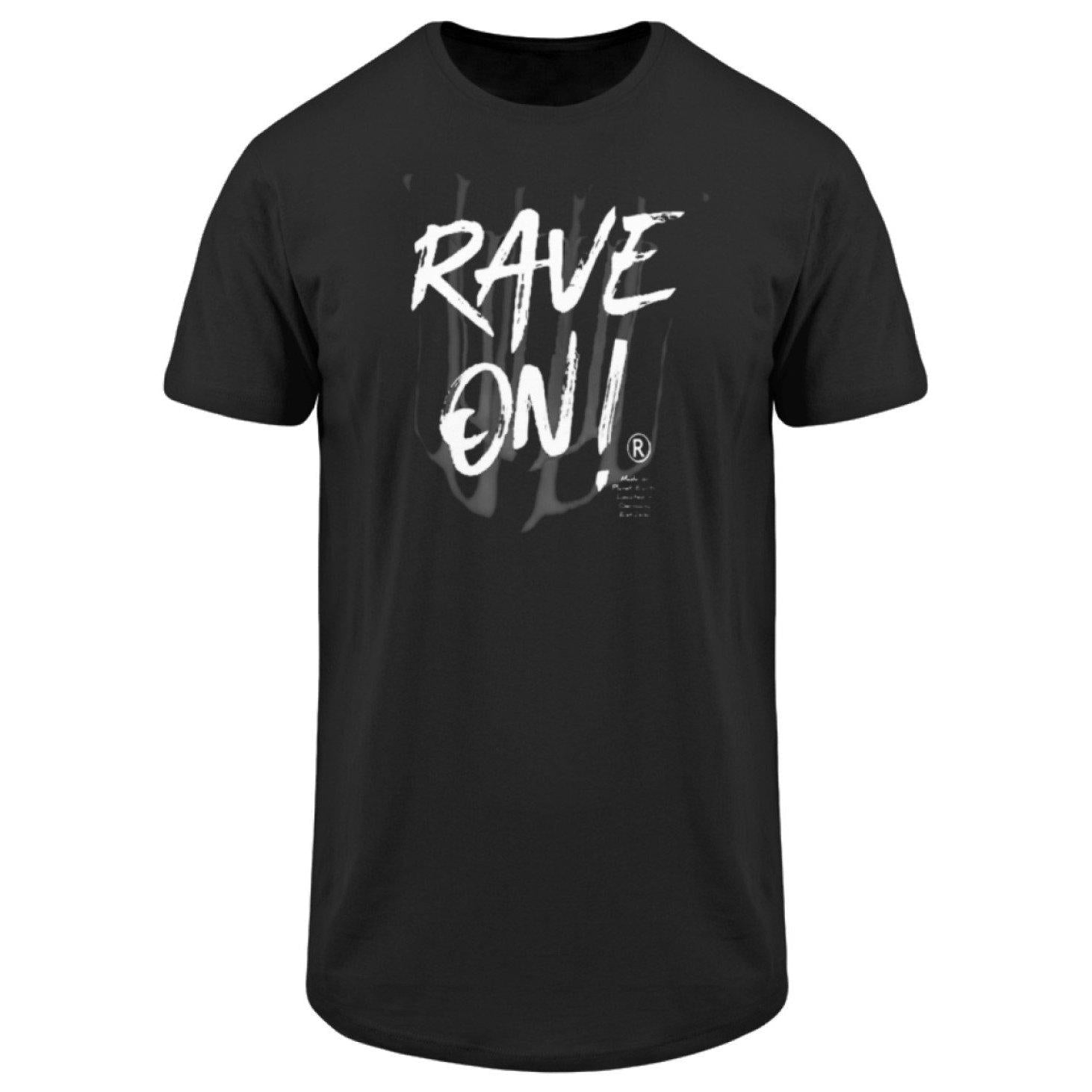 Rave On!® - Made On Planet Earth B2k20 - Herren Long Tee Men Long Tee Black / S - Rave On!® der Club & Techno Szene Shop für Coole Junge Mode Streetwear Style & Fashion Outfits + Sexy Festival 420 Stuff