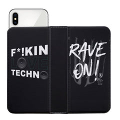 F*CKIN LOVE TECHNO Rave On!Ⓡ Phone Case