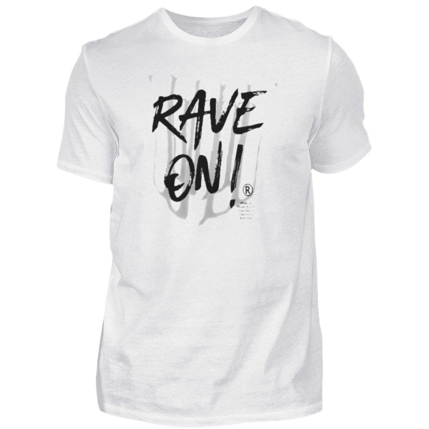 Rave On!® - Made On Planet Earth W2k20 - Herren Premiumshirt Herren Premium Shirt White / S - Rave On!® der Club & Techno Szene Shop für Coole Junge Mode Streetwear Style & Fashion Outfits + Sexy Festival 420 Stuff
