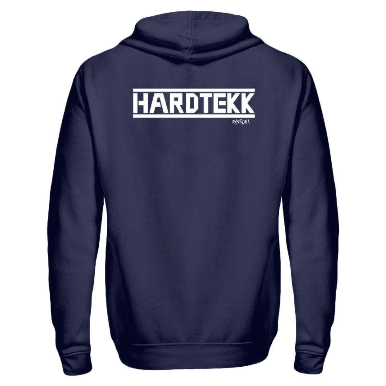 HARDTEKK - Rave On!® - Zip-Hoodie-ZipperB-Navy-S-Rave-On! I www.rave-on.shop I Deine Rave & Techno Szene Shop I boy hoodie, damen hoodie, Design - HARDTEKK - Rave On!®, girl hoodie, girls hoodie, hardtekk, herren hoodie, herren pullover, hoodie, hoodies, hoody, hoodys, kapuze, kapuzenpullover, on, pullover, pullover mit kapuze, rave, rave clothes, Rave Clothing, rave fashion, rave wear, techno, Tekk, tekkno, unisex, unisex hoodie, unisex hoody, unisex kapuzenpullover, unisex pulli, unisex pullov