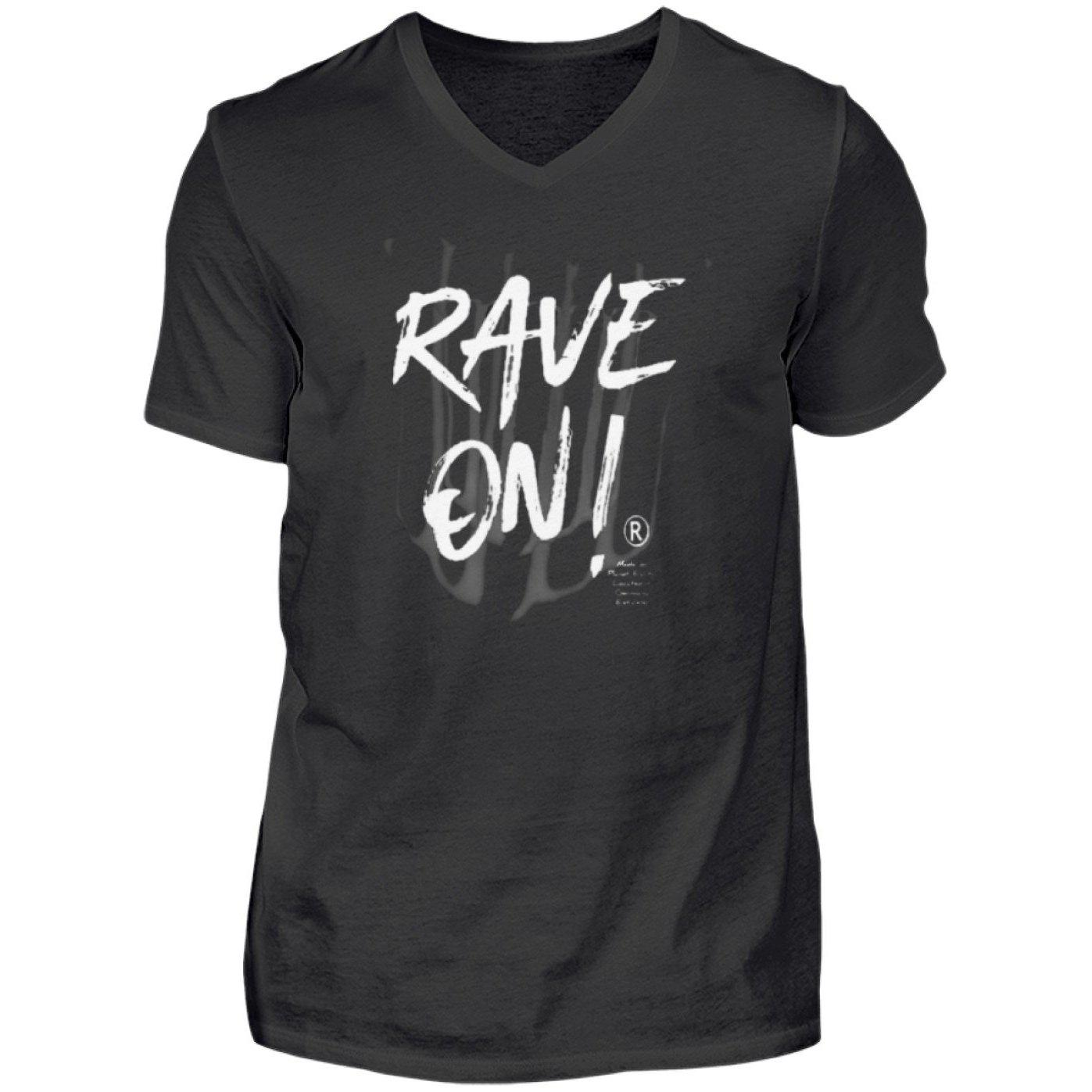 Rave On!® - Made On Planet Earth B2k20 - Herren V-Neck Shirt V-Neck Herrenshirt Black / S - Rave On!® der Club & Techno Szene Shop für Coole Junge Mode Streetwear Style & Fashion Outfits + Sexy Festival 420 Stuff