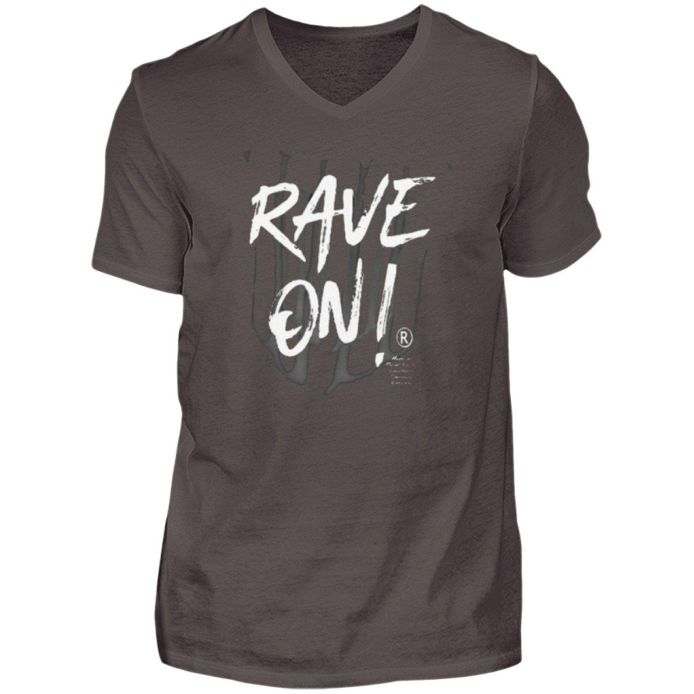 Rave On!® - Made On Planet Earth B2k20 - Herren V-Neck Shirt V-Neck Herrenshirt Smoke (Solid) / S - Rave On!® der Club & Techno Szene Shop für Coole Junge Mode Streetwear Style & Fashion Outfits + Sexy Festival 420 Stuff