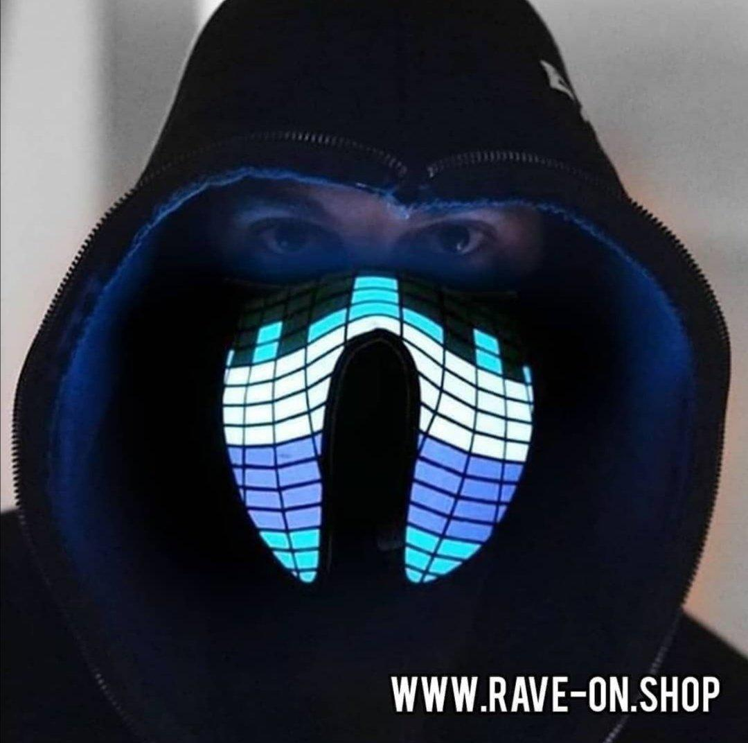 Sound Activated LED Rave Mask Mask - Rave On!® der Club & Techno Szene Shop für Coole Junge Mode Streetwear Style & Fashion Outfits + Sexy Festival 420 Stuff