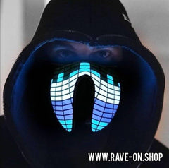 LED Rave Maske - Sound-aktiv
