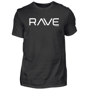 """RAVE"" - Rave On!® Black T-Shirt - Herren Premiumshirt-Herren Premium Shirt-Black-S-Rave-On! I www.rave-on.shop I Deine Rave & Techno Szene Shop I casual, Design -, Global recommendation, rave, rave clothes, Rave Clothing, rave fashion, rave on, rave shirt, rave shop, rave wear, raver shirt, simple - Sexy Festival Streetwear , Clubwear & Raver Style"