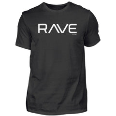 RAVE - Rave On!® Black T-Shirt  - Herren Premiumshirt