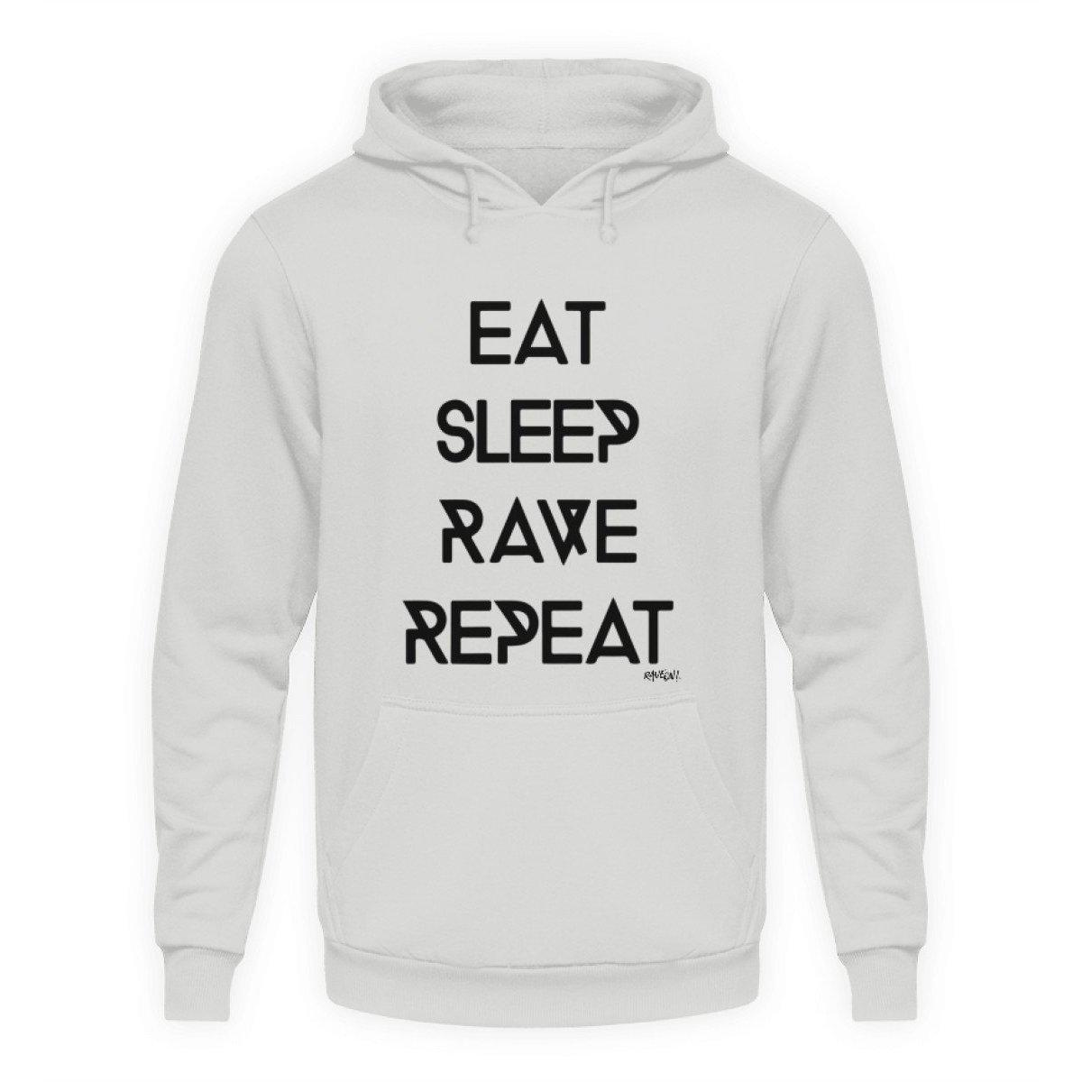 Eat Sleep Rave Repeat - Rave On!® - Unisex Kapuzenpullover Hoodie Unisex Hoodie Sport Grey / L - Rave On!® der Club & Techno Szene Shop für Coole Junge Mode Streetwear Style & Fashion Outfits + Sexy Festival 420 Stuff