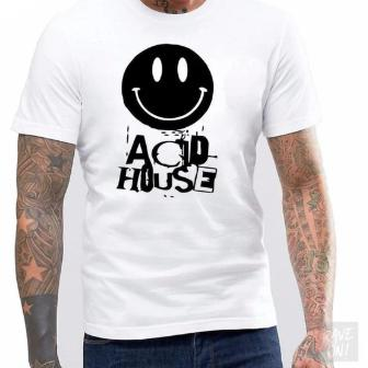 ACID HOUSE -Rave On!® - Men Shirt Men Basic T-Shirt - Rave On!® the club & techno scene shop for cool young fashion streetwear style & fashion outfits + sexy festival 420 stuff