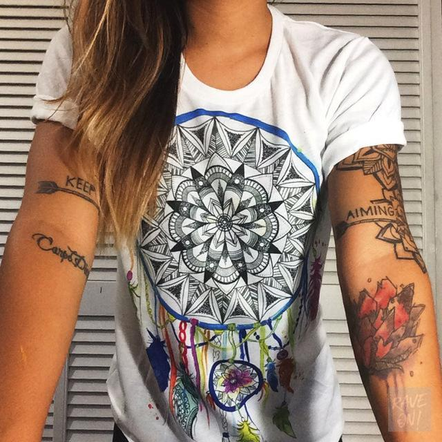 Designer Ladies T-Shirt Collection I T-Shirt Dreamcatcher / S - Rave On!® der Club & Techno Szene Shop für Coole Junge Mode Streetwear Style & Fashion Outfits + Sexy Festival 420 Stuff
