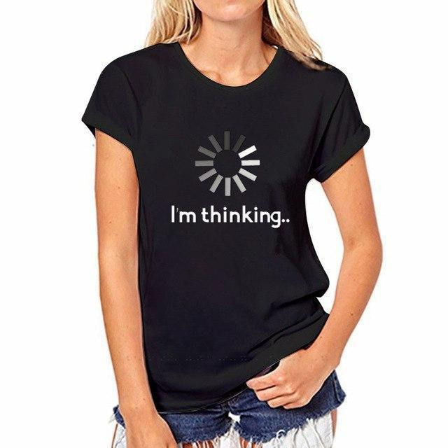 Awesome! Designer Ladies T-Shirt Kollektion Im Thinking in Schwarz / XXL  rave-onofficial.myshopify.com www.rave-on.de Rave-On! rave techno clothing fashion 2019