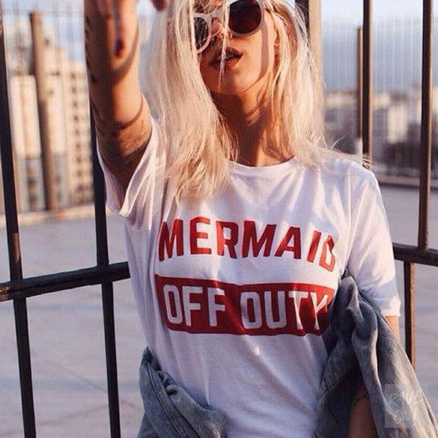 Designer Ladies T-Shirt Collection I Mermaid Duty Off / S - Rave On!® der Club & Techno Szene Shop für Coole Junge Mode Streetwear Style & Fashion Outfits + Sexy Festival 420 Stuff