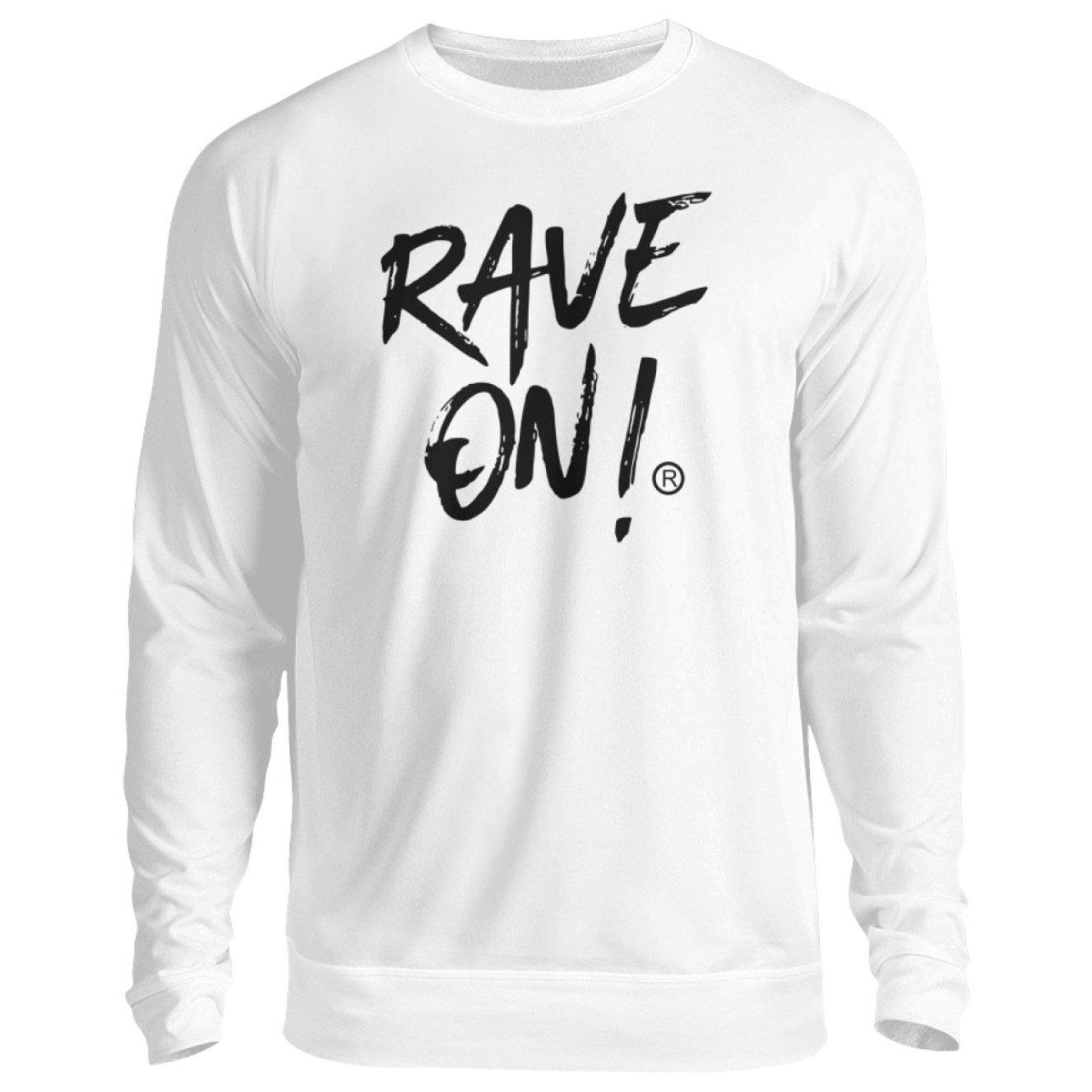 RAVE ON!® Light Collection - Unisex Pullover-Unisex Sweatshirt-Arktikweiß-S-Rave-On! I www.rave-on.shop I Deine Rave & Techno Szene Shop I Design - RAVE ON!® Light Collection - Sexy Festival Streetwear , Clubwear & Raver Style