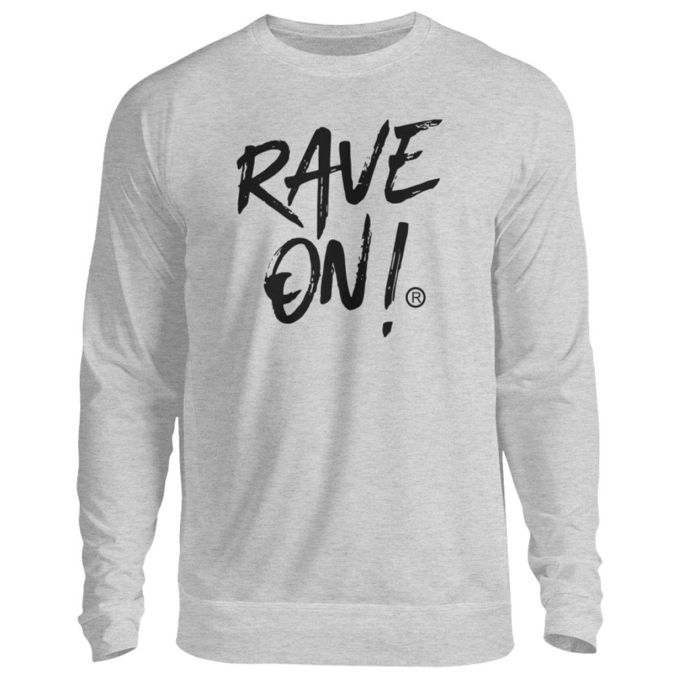 RAVE ON!® Light Collection - Unisex Pullover-Unisex Sweatshirt-Grau (Meliert)-S-Rave-On! I www.rave-on.shop I Deine Rave & Techno Szene Shop I Design - RAVE ON!® Light Collection - Sexy Festival Streetwear , Clubwear & Raver Style
