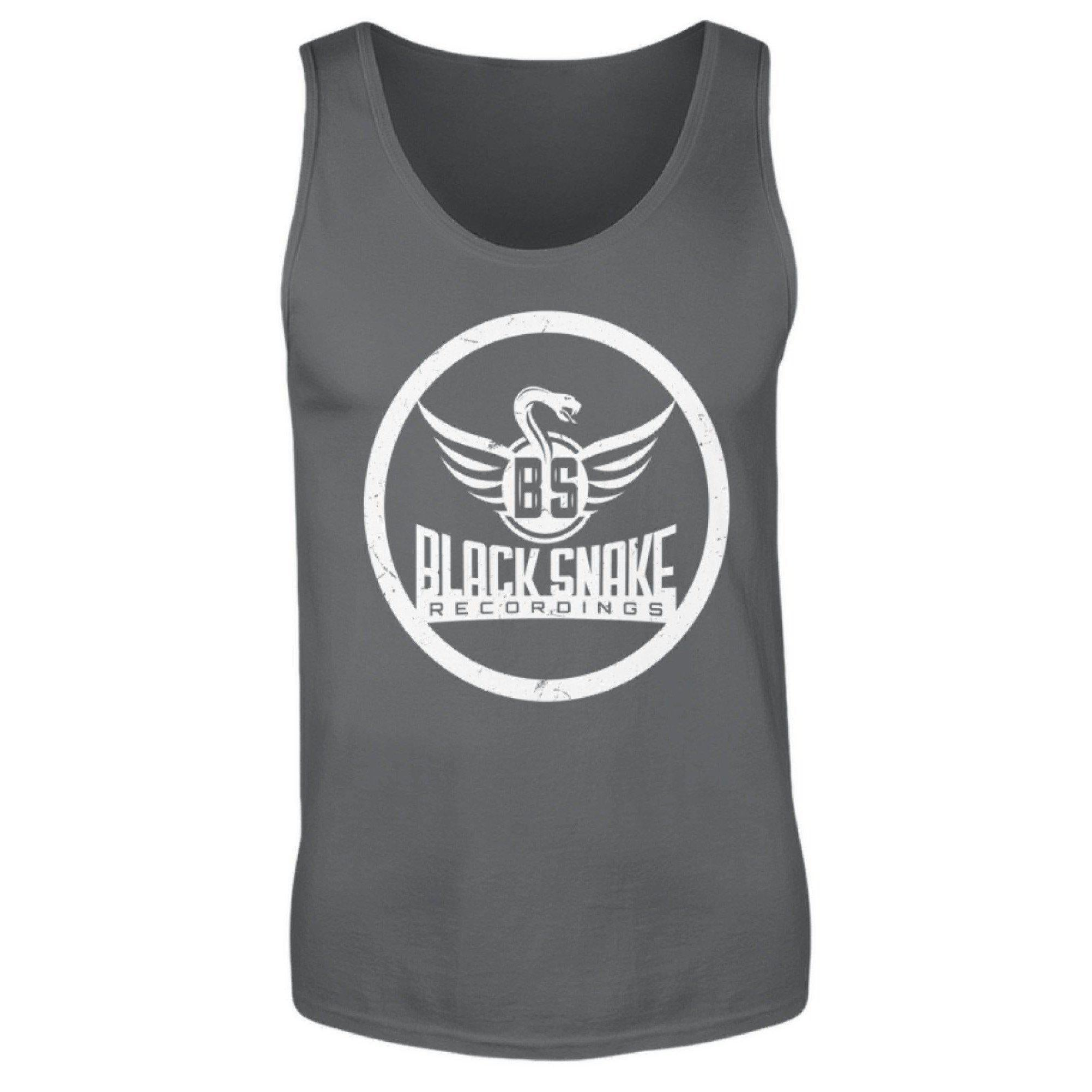 Black Snake Recordings Collection - men's tank top men's tank top gray black / S - Rave On!® the club & techno scene shop for cool young fashion streetwear style & fashion outfits + sexy festival 420 stuff