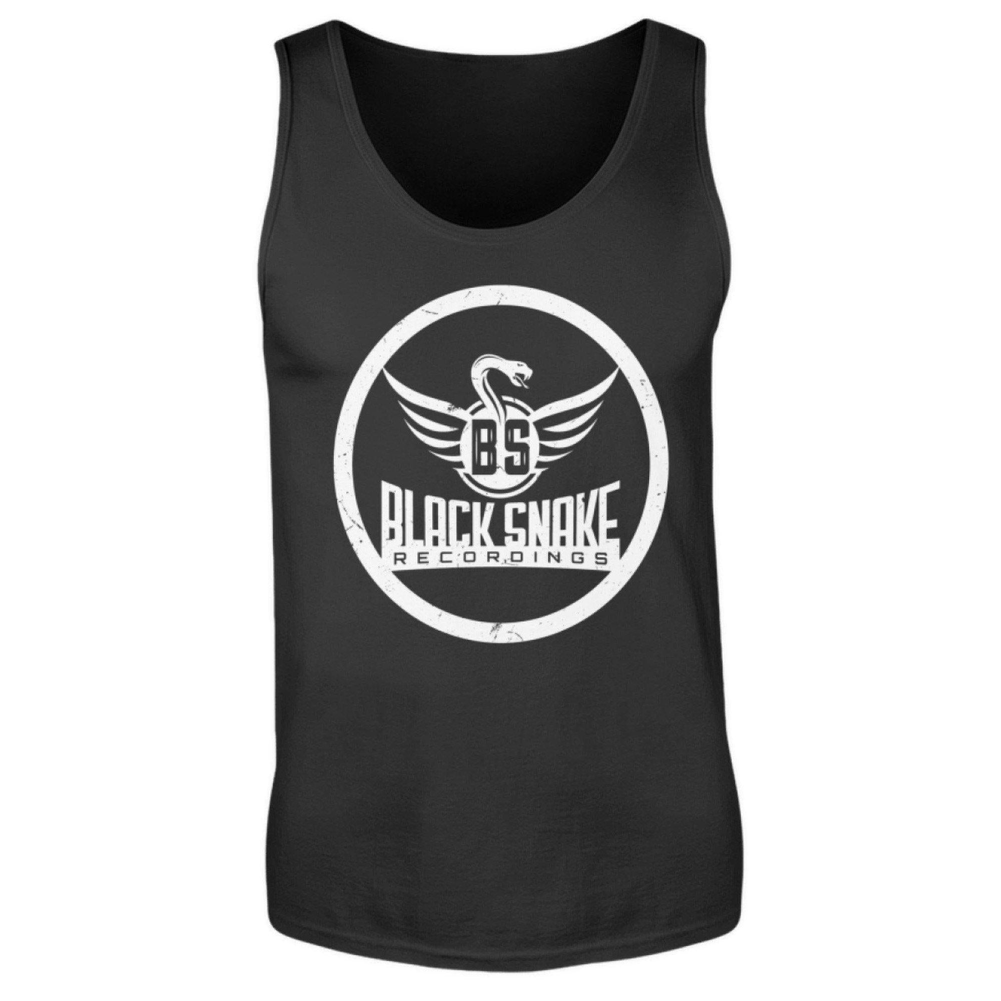 Black Snake Recordings Collection - Men's Tank Top Men's Tank Top Black / S - Rave On!® the club & techno scene shop for cool young fashion streetwear style & fashion outfits + sexy festival 420 stuff
