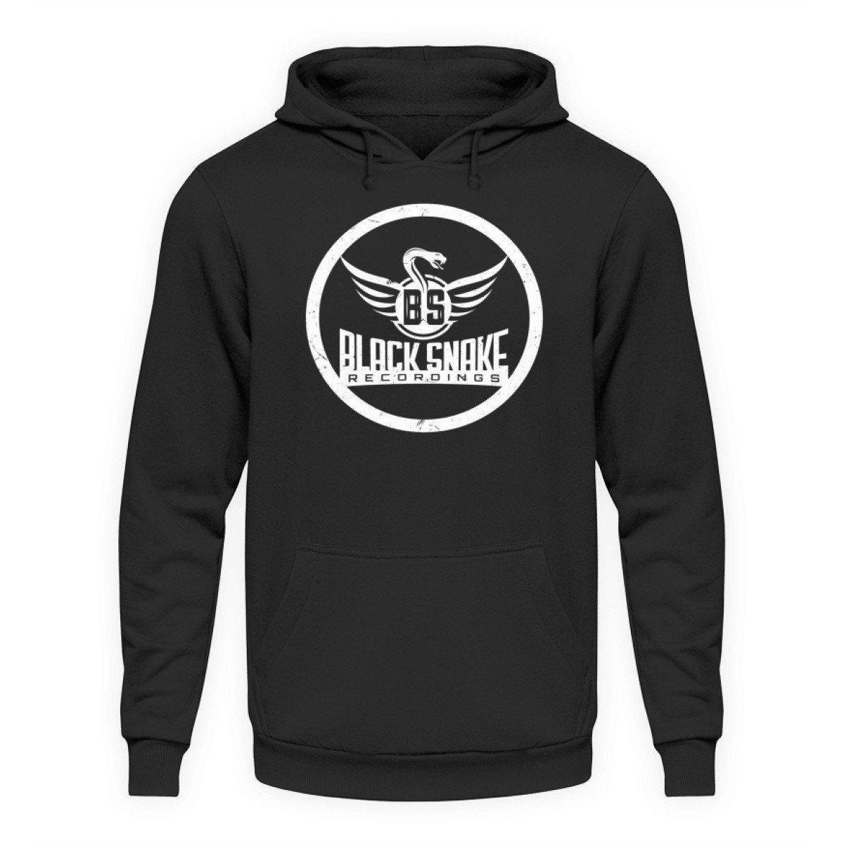 Black Snake Recordings Collection - Unisex Kapuzenpullover Hoodie Unisex Hoodie Jet Black / L - Rave On!® der Club & Techno Szene Shop für Coole Junge Mode Streetwear Style & Fashion Outfits + Sexy Festival 420 Stuff