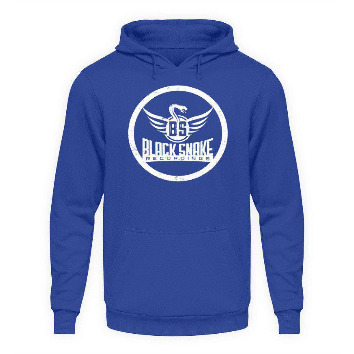 Black Snake Recordings Collection - Unisex Kapuzenpullover Hoodie Unisex Hoodie Royal Blue / L - Rave On!® der Club & Techno Szene Shop für Coole Junge Mode Streetwear Style & Fashion Outfits + Sexy Festival 420 Stuff