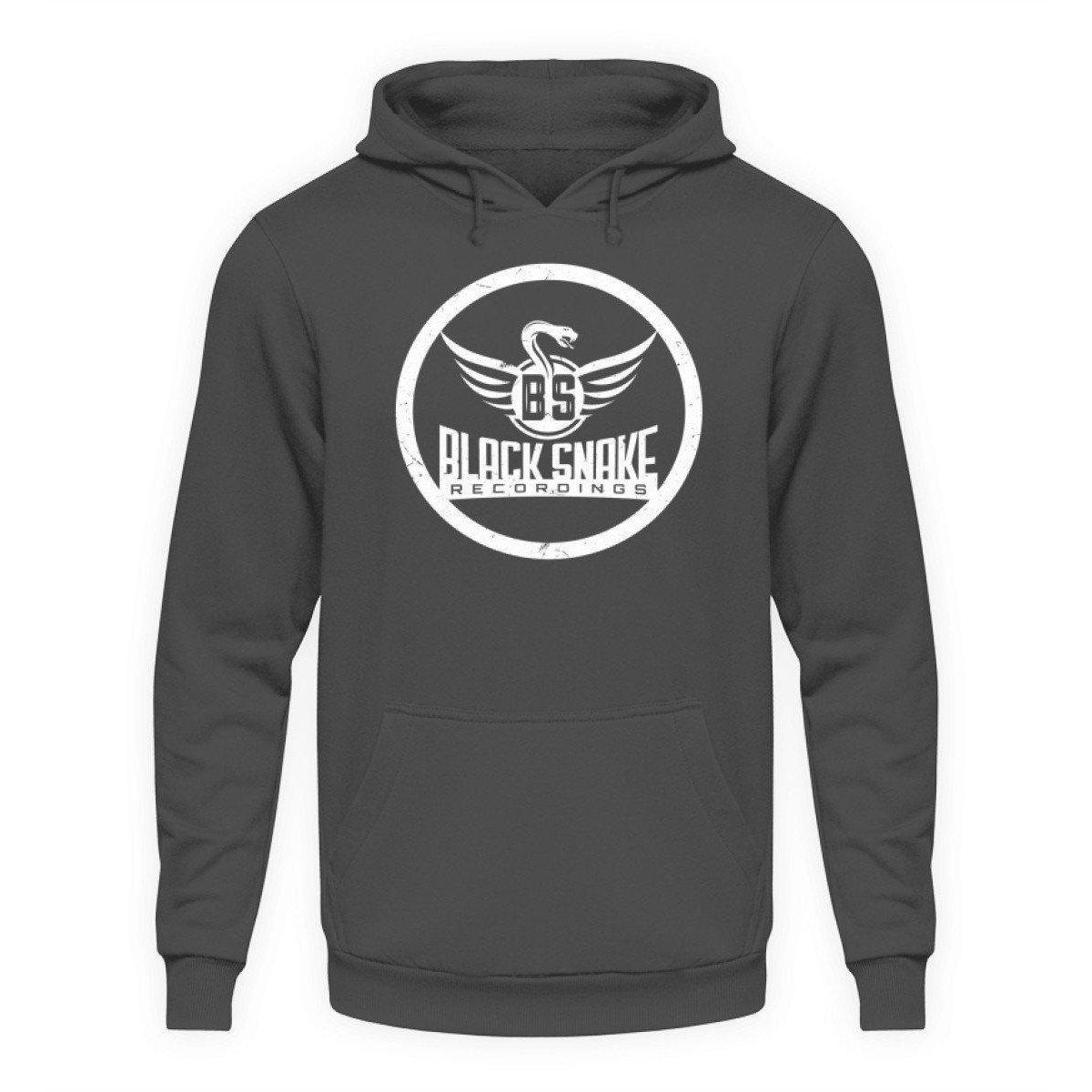 Black Snake Recordings Collection - Unisex Kapuzenpullover Hoodie Unisex Hoodie Steel Grey (Solid) / L - Rave On!® der Club & Techno Szene Shop für Coole Junge Mode Streetwear Style & Fashion Outfits + Sexy Festival 420 Stuff