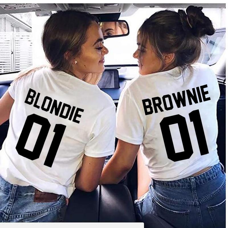 Brownie & Blondie Friends T-Shirt-Rave-On! I www.rave-on.shop I Deine Rave & Techno Szene Shop I rave attire, rave wear - Sexy Festival Streetwear , Clubwear & Raver Style