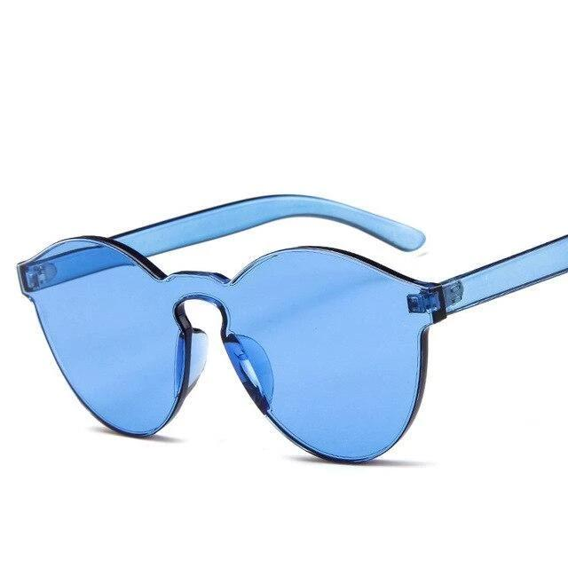 Sunglasses Candy Color Transparent blue - Rave On!® the club & techno scene shop for cool young fashion streetwear style & fashion outfits + sexy festival 420 stuff