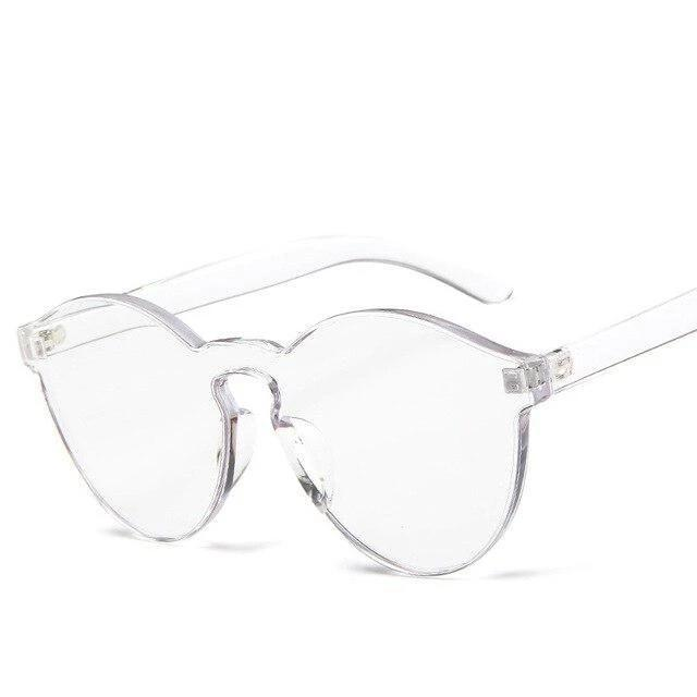 Sunglasses Candy Color Transparent clear - Rave On!® the club & techno scene shop for cool young fashion streetwear style & fashion outfits + sexy festival 420 stuff