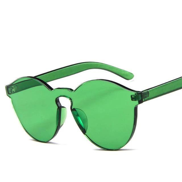 Sunglasses Candy Color Transparent green - Rave On!® the club & techno scene shop for cool young fashion streetwear style & fashion outfits + sexy festival 420 stuff