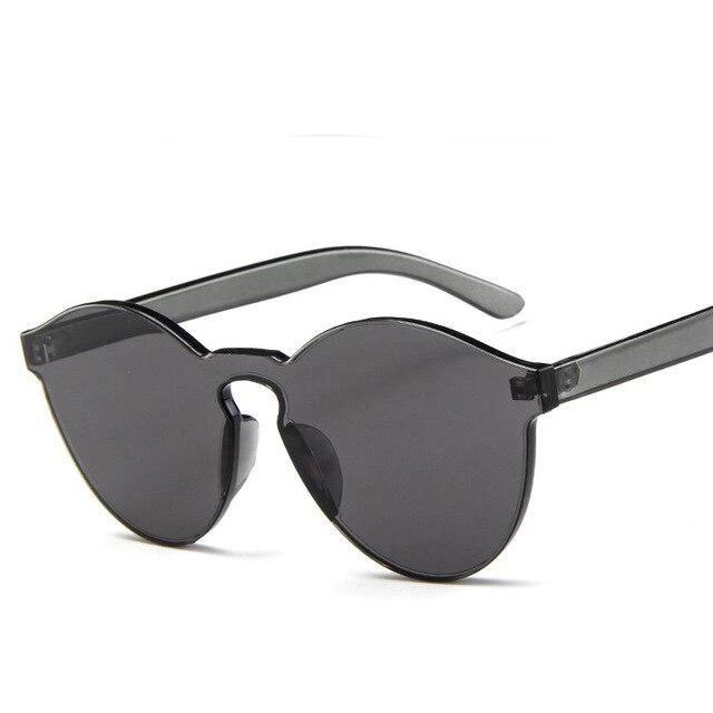 Sunglasses Candy Color Transparent gray - Rave On!® the club & techno scene shop for cool young fashion streetwear style & fashion outfits + sexy festival 420 stuff
